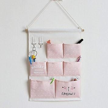 Sac De Rangement Suspendu Sac Organisateur Mural En Tissu Avec 7 Poches  Avec Crochets, Pochette