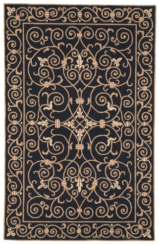 (Safavieh Chelsea Collection HK11A Hand-Hooked Black Premium Wool Oval Area Rug (4'6