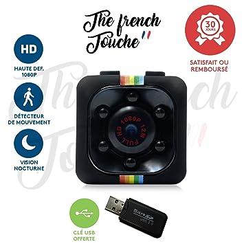 Mini cámara, cámara de vigilancia oculta con visión infrarroja Vision Nocturna integrada y detección de