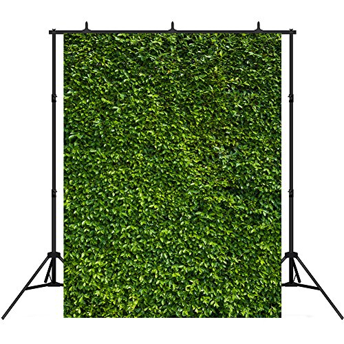 5x7ft St. Patrick's Day Photography Backdrops Vinyl Green Plant Wall Photo Studio Background Props for - Digital Diy Camera Photo Booth