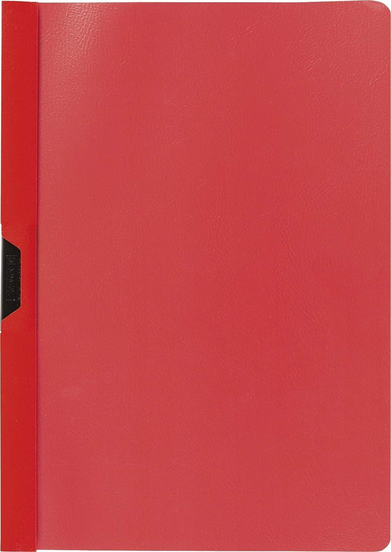 colore: Rosso Cartellina con clip Baier /& Schneider Brunnen 102014020 dorso in pellicola di polipropilene colorata copertina anteriore trasparente formato A4 25 pezzi