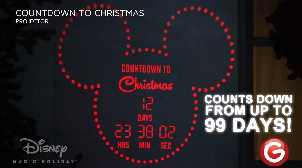 Disney Magic Holiday Mickey Mouse Countdown Lightshow Projector ...