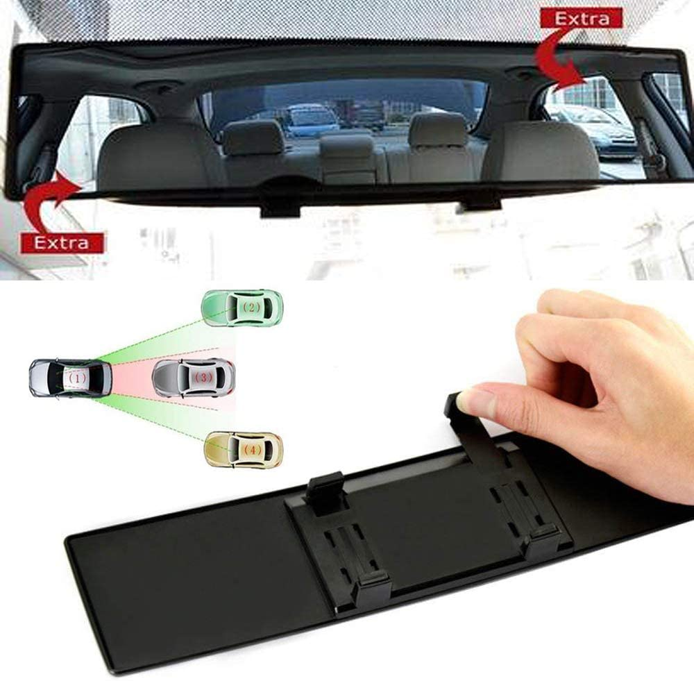 ICBEAMER Broadway 400mm 15.8 Type-A Convex Surface Wide Style Universal Fit Interior Rear View Mirror