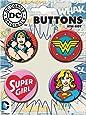 Ata-Boy DC Comics Originals Wonder Woman and Supergirl 4 Button Set