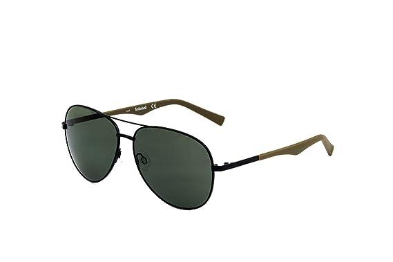 bc243e9fd3fed2 Lunettes de soleil polarisées Timberland TB9109 C59 02R (matte black    green polarized)  Amazon.fr  Vêtements et accessoires