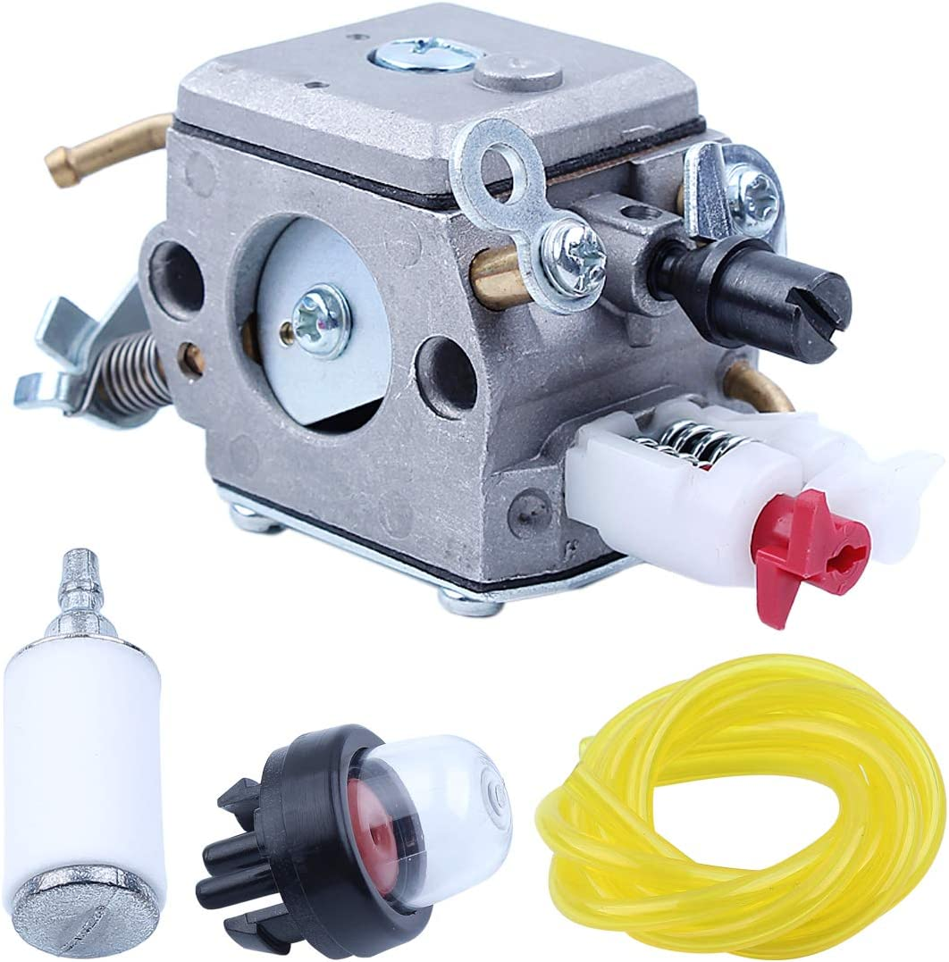 Haishine Carburador Carb Fuel Line Hose Filter Primer Kit de Bulbo para Husqvarna 340 345 346XP 350 351 353 E//EPA Motosierra 503283208 C3-EL18