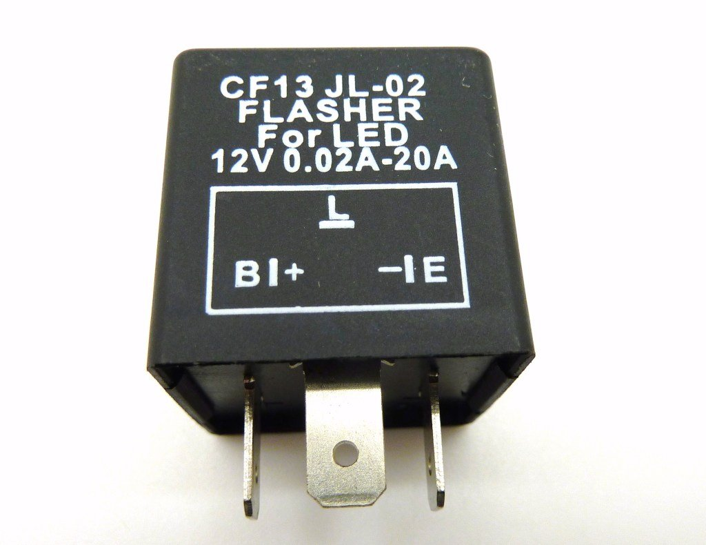 Led Flasher Unit 3 Pin Relay Bulbs Fix Indicators Flash Rate Switch Halfords Plug Play Cf13 Jl 02 Car Motorbike