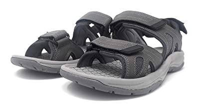 e9960b59d3d Image Unavailable. Image not available for. Color  Eddie Bauer Mens Size 9  Hank Genuine Leather Sandals ...