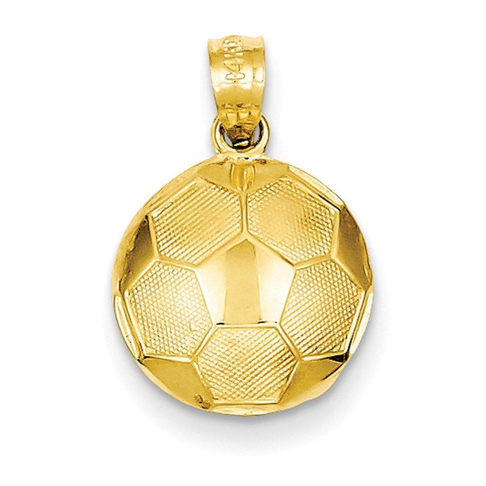 Lex /& Lu 14k Yellow Gold Soccer Ball Pendant LAL74180