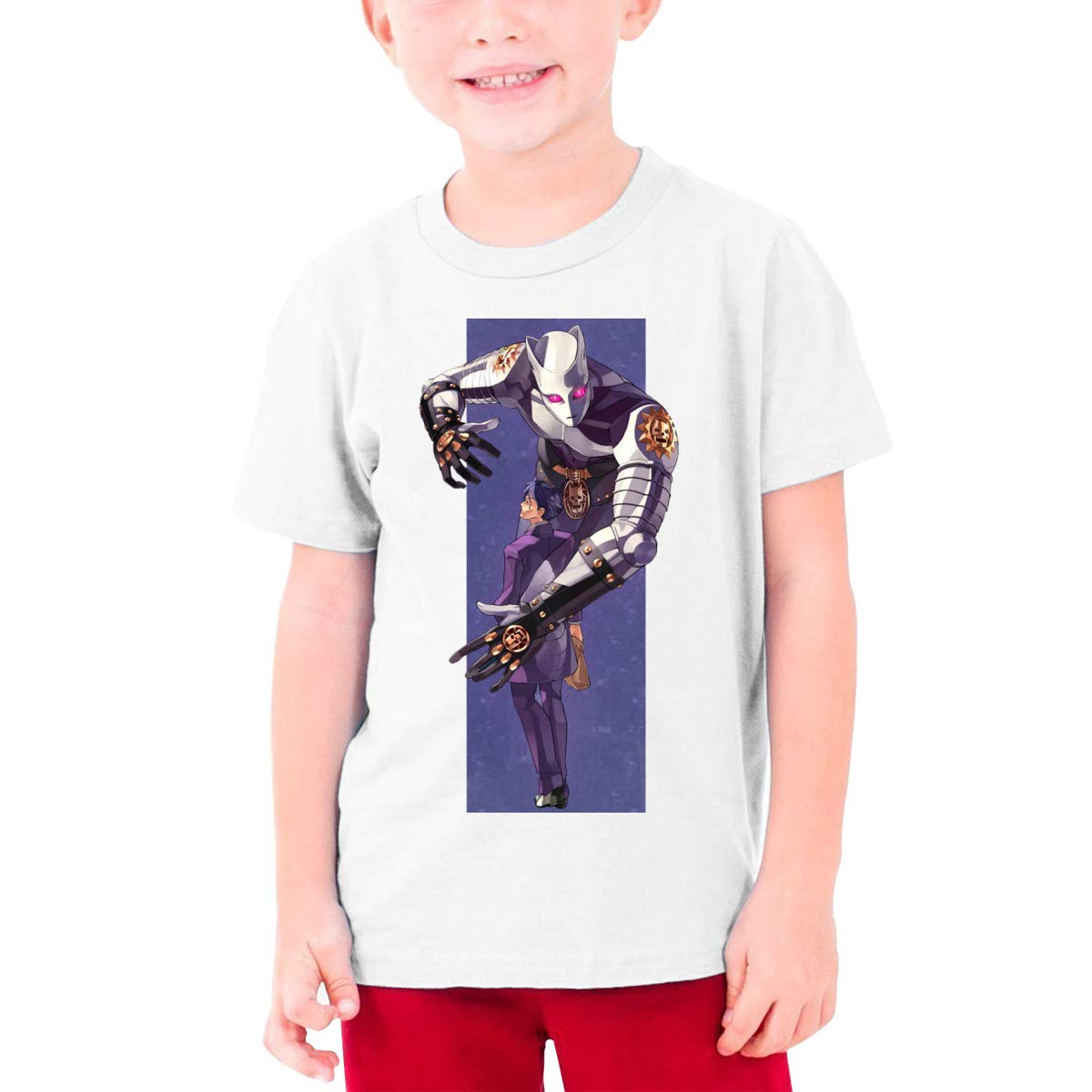 Censu Personalized Fashion Kira Yoshikage O-neck T Shirts For Teens, Black