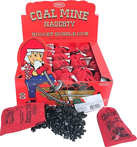 Coal Mine Naughty Black Nugget Bubblegum 24 Packs]()