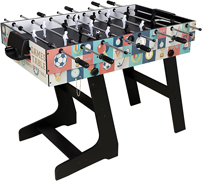 Umi. Essentials Mesa Multijuegos Plegable 4 en 1 Mesa de Billar ...