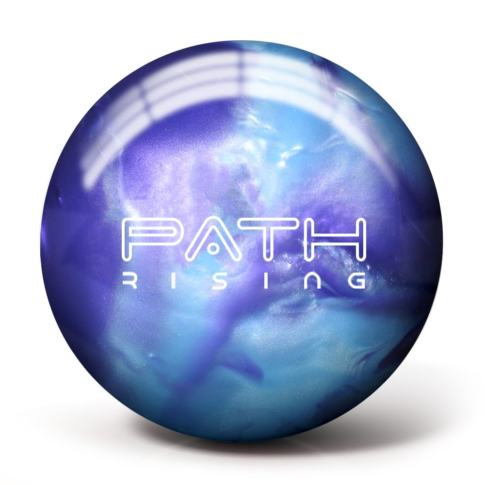 Pyramid Path Rising Bowling Ball (Purple/Steel Blue, 14lb) by Pyramid