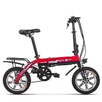 RICH BIT Vélos électriques TP618 Capacité Pedelec 250W 10.2Ah Capacité Batterie 14'' pouce roue Cadre en aluminium pliable Vélo de ville