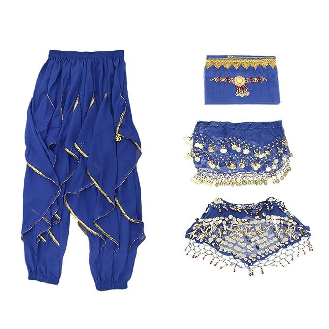 non-brand Sharplace 4 Piezas Vestido de Danza de Vientre Bufanda de ...