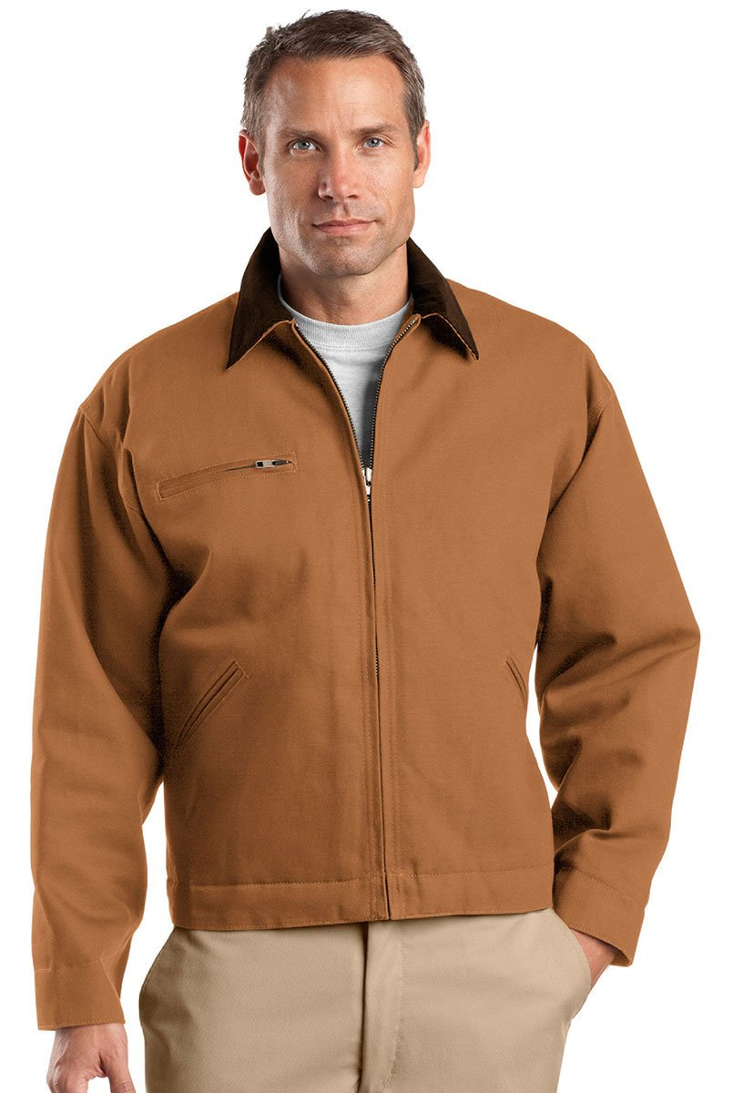 Size Duck Brown Color Work Jacket Small