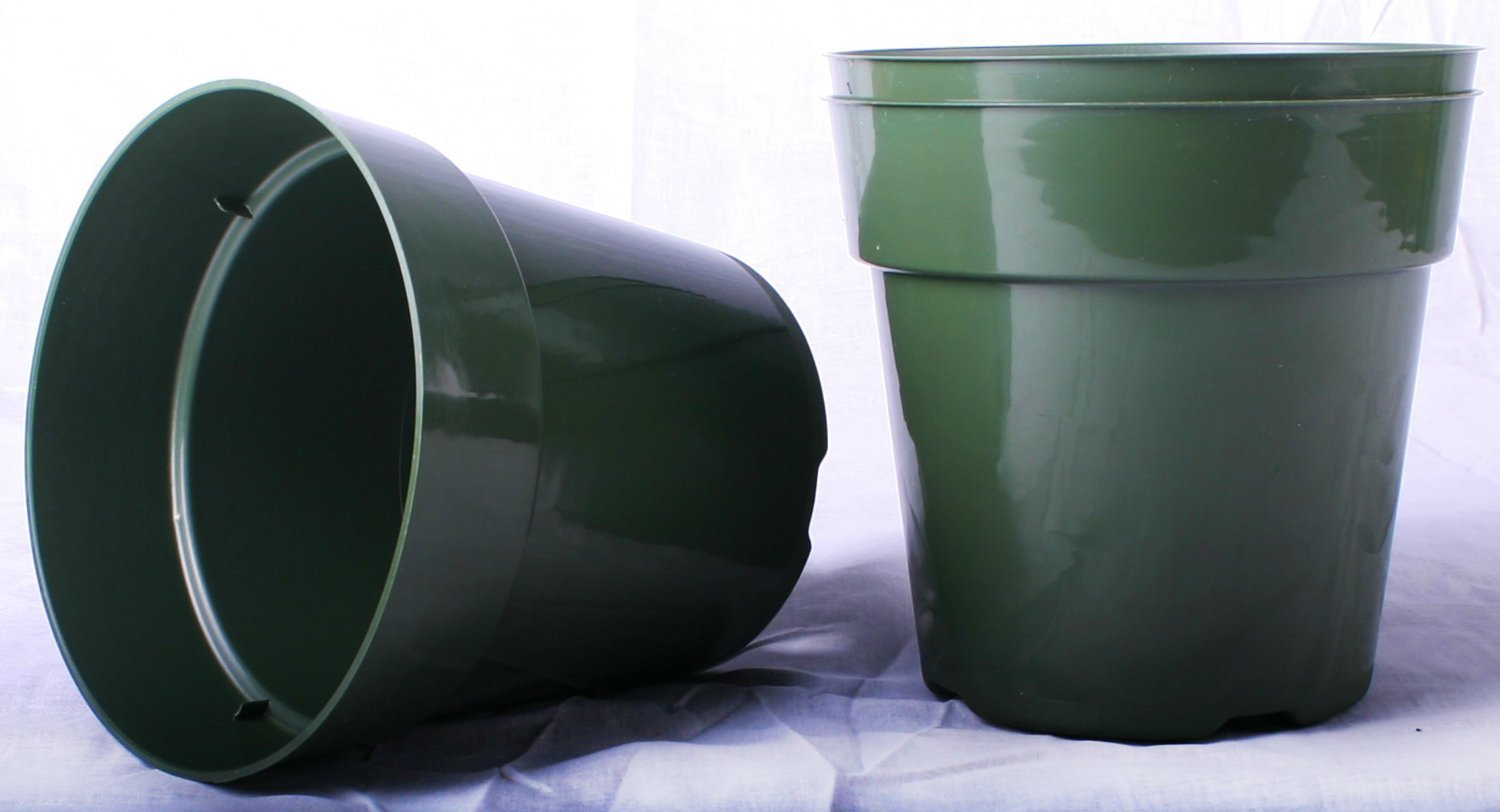 20 NEW 6 Inch Dillen Standard Plastic Nursery Pots ~ Pots ARE 6 Inch Round At the Top and 5.6 Inch Deep.