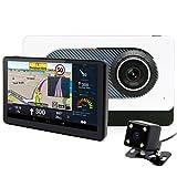 """Junsun Navegador GPS para Coche 7"""" Pantalla Táctil con Cámara de Coches DVR Bluetooth Mapa Europea de 48 Países Gratuito de Actualizar en Toda la Vida (Camara Visión Trasera)"""