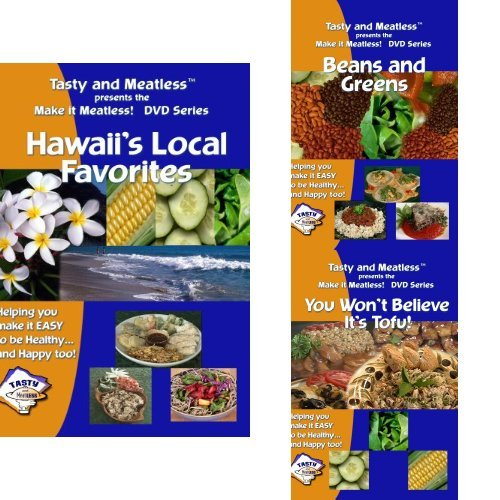 (Tasty and Meatless Vegetarian Cooking: 3 DVD Cookbook Set)