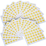 eBoot Star Stickers 1750 Count Self-Adhesive Stickers Stars (Gold)