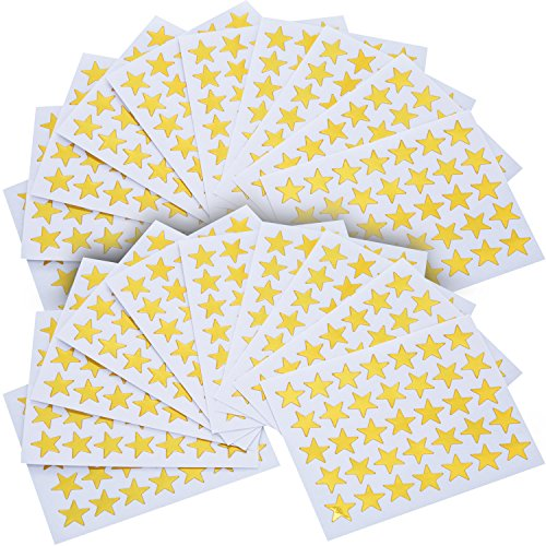 eBoot Star Stickers 1750 Count Self-Adhesive Stickers Stars (Gold) -