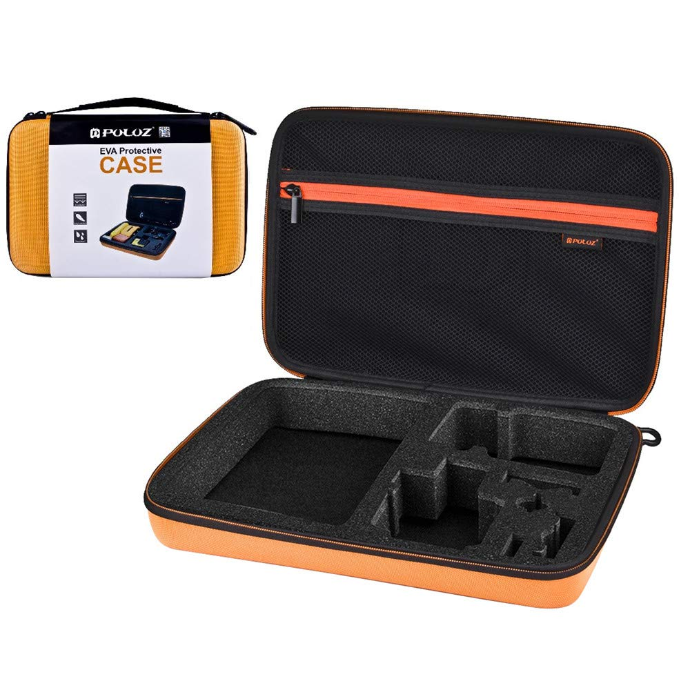 YAOkxin 防水キャリー&トラベルケース GoPro New Hero /HERO6 /5/4 Session /4/3+ /3/2 /1 Puluz U6000 その他のスポーツカメラアクセサリー用 サイズ: 32cm x 22cm x 7cm (オレンジ) B07MP4GD25