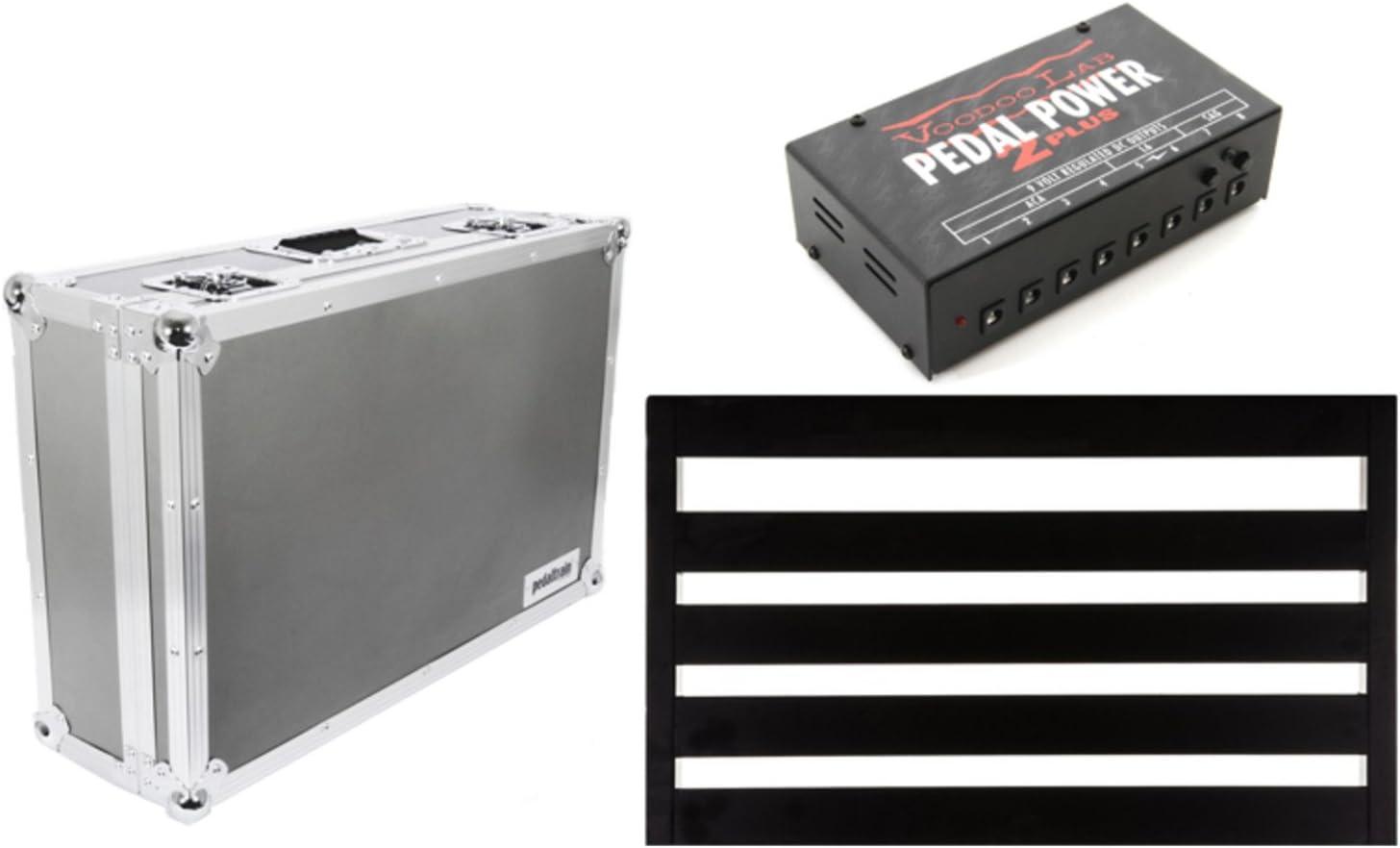 Pedaltrain NOVO 24 5-RAIL 24 x 14.5 PEDALBOARD w//Tour Case and Voodoo Lab Peda