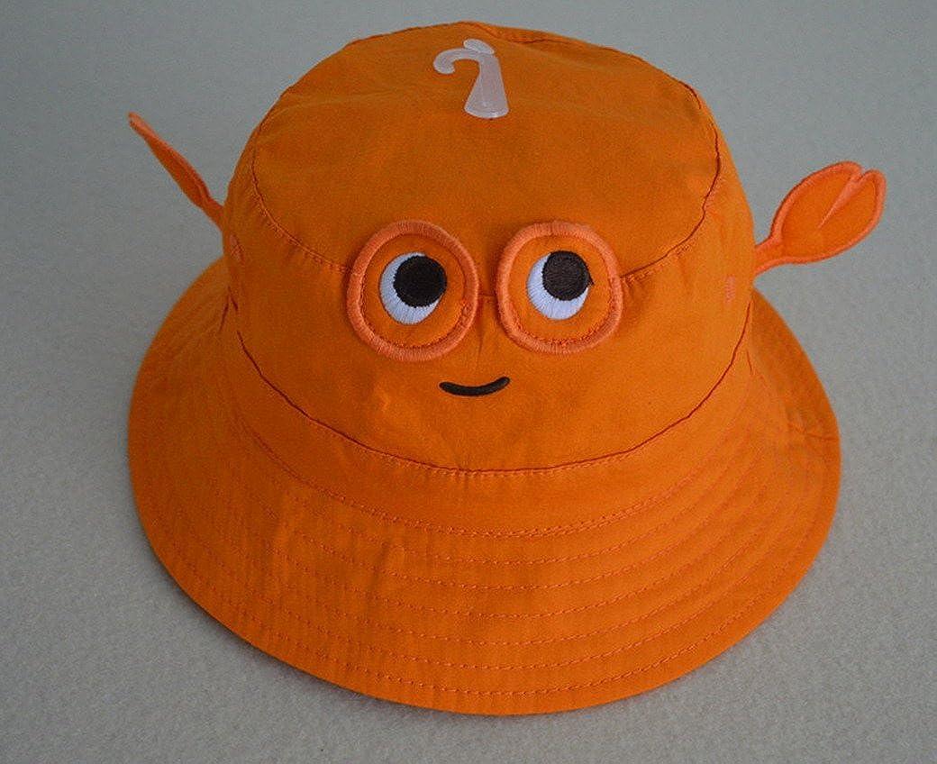 TANGDA Chapeau 3D Carbe pour B/éb/é Fille Gar/çon Bob Hat Anti-UV Protection Coton Casquette Panama Plage Orange//Rouge Tour de T/ête 45-53CM 9mois-6ans Optique
