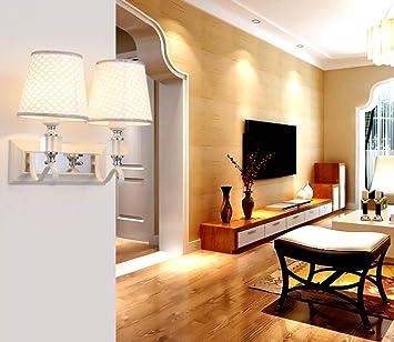 MJY Lámpara Economy de Energy of Energy - American Crystal Led Moderno Hierro creativo Escalera Salón Dormitorio Balcón Pasillo de noche Lámpara de pared (No incluya la fuente de luz) (Forma: Singl:
