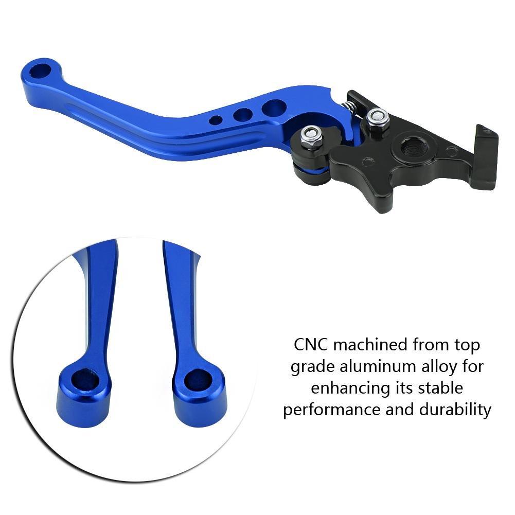 Elerose Paire de levier de frein /à tambour pour embrayage universel de moto CNC en aluminium de 22 mm 7//8en aluminium CNC Rouge