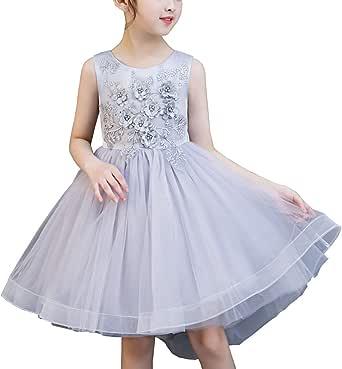 SERAPHY Girls Dresses Gilrs Party Dresses Flower Girls Wedding Princess Dresses Sleeveless Round Neck Pageant Bridesmaid Christening Dresses Gifts
