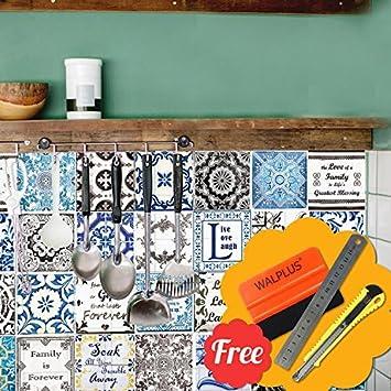Hochwertig Walplus Entfernbarer Selbstklebend Wandkunst Aufkleber Vinyl Wohndeko DIY  Wohnzimmer Schlafzimmer Küche Dekor Tapete Retro Braun U0026