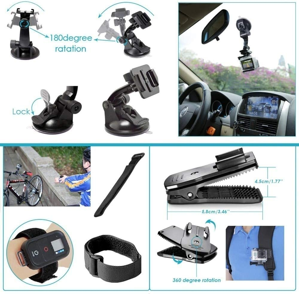 57 in 1 Action Camera Accessories Kit for GoPro Hero 8 7 6 5 4 SJ4000 5000 6000 DBPOWER AKASO WiMiUS