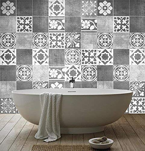 Tiles Stickers Decals - Packs with 56 Tiles (5.9 x 5.9 inches, Luxury Tile Artwork Stickers Wall Decoration) by Moonwallstickers (Image #2)