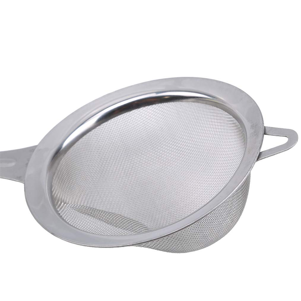 Cngstar Stainless Steel Skimmer Spoon with Plastic Handle for Hot Pot Fat Skimmer Spoon Mesh Strainer Ladle for Kitchen Skimming Fat Oil Filter Grease Foam Gravy