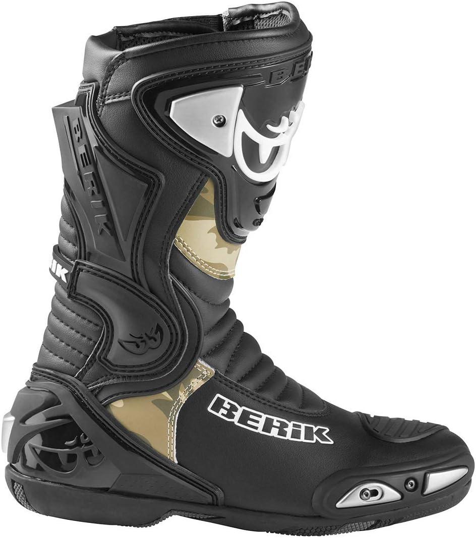 Berik Losail Camo Bottes de moto Schwarz 40