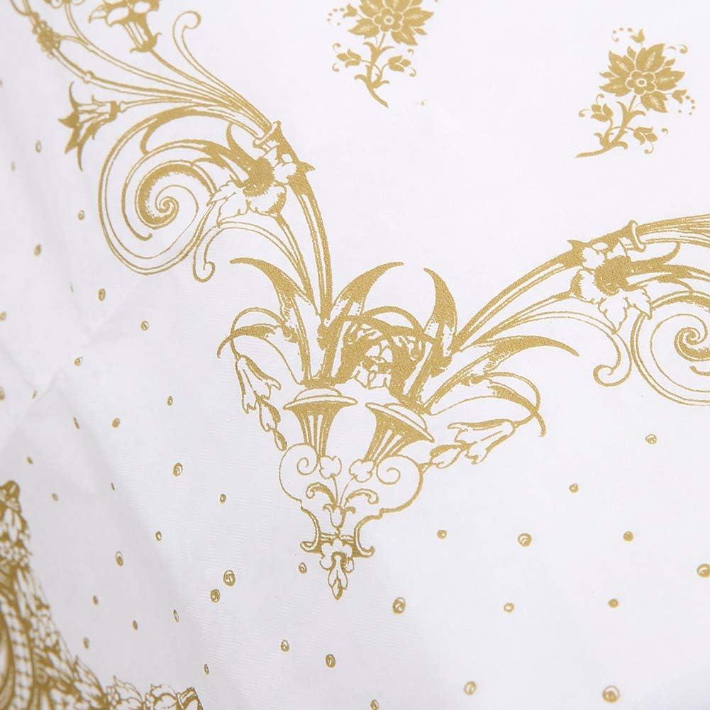 140 cm Fiesta de cumplea/ños de la boda Decoraci/ón de mesa Papel de oro plata Suministros de fiesta desechables Mantel de la fiesta Mantel dorado manteles de papel desechable a la hora del t/é 140