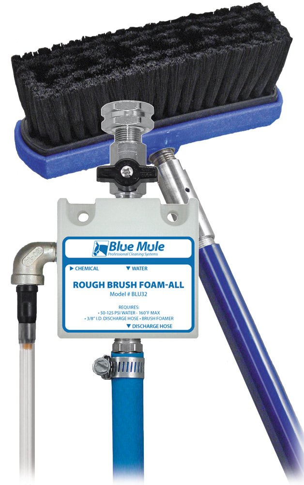 Blue Mule Rough Brush Foam-All: Wall-Mounted Stiff Bristle Brush Foamer