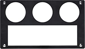 UTV INC Yamaha Rhino 3 Gauge & Single DIN Dash Plate