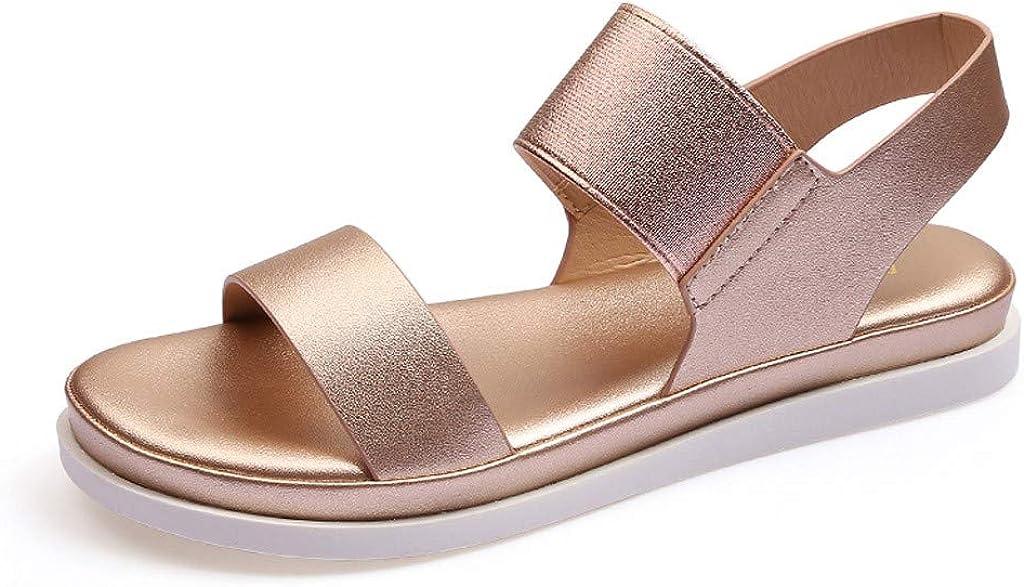 LuckyGirls Chic Sandalias Mujer Verano 2020 Planas Playa Casual Sandalias de Pala Mujer Piscina Vestir Comodas Punta Abierta Zapatos Mujer Fiesta Elegantes