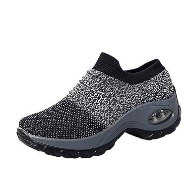 Yogogo Herren Damen Schuhe Dicke Unterseite Plattform Luftpolster Arbeits Stiefel  Laufschuhe Wasserdicht Warm Gefütterte Winterschuhe Stiefelette 983bf832da