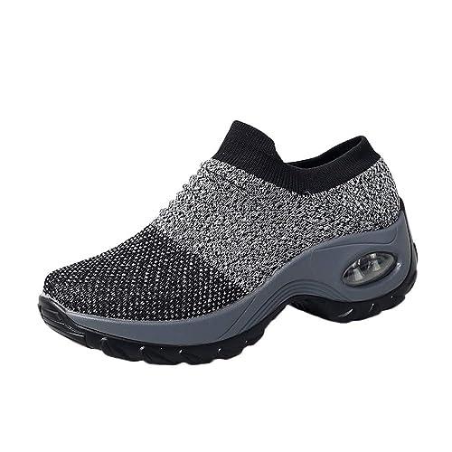 Zapatillas De Deporte para Mujer,Moda Mujeres Casual Malla Gruesa Plataforma Inferior Colchón De Aire Zapatos Mecedores: Amazon.es: Zapatos y complementos