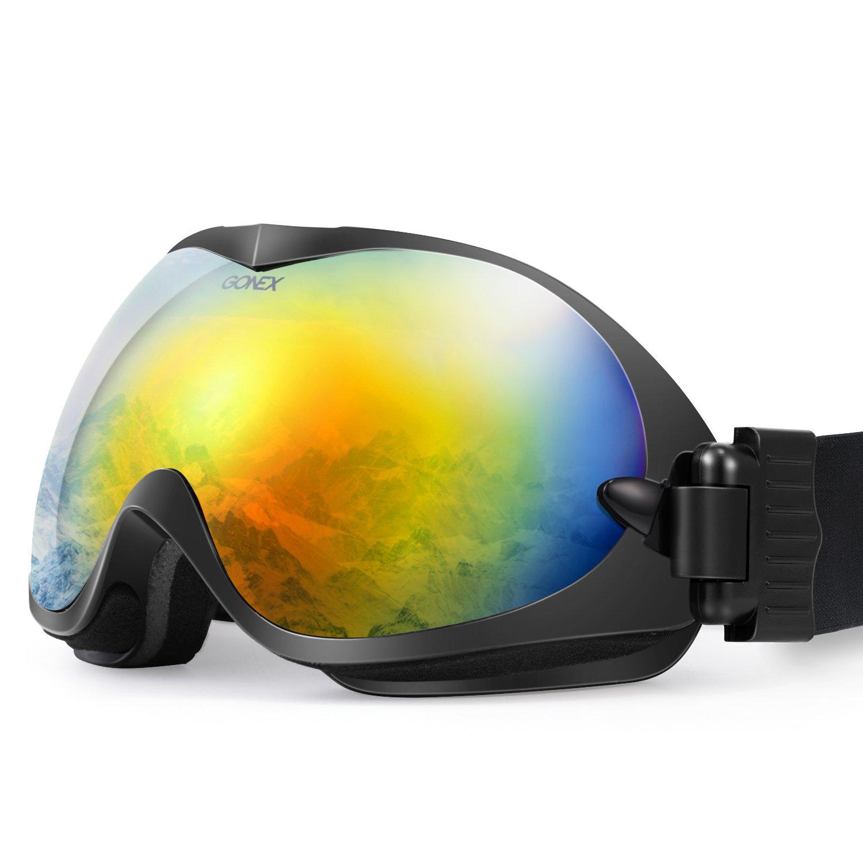1eb0836d9be1 Gonex Adult Ski Goggles Snow Snowboard Goggles Blue Lens Blue Frame ...