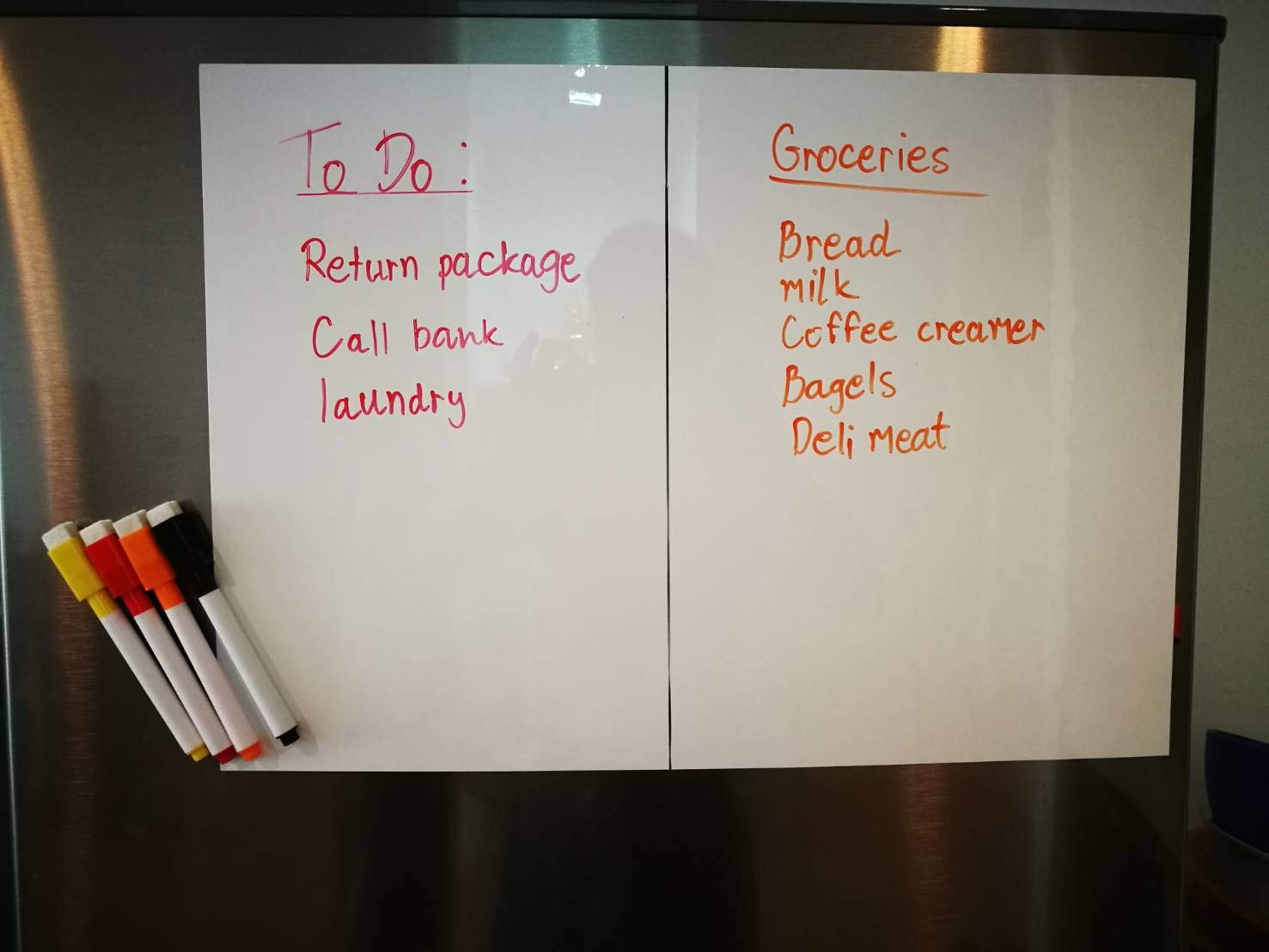 Dry Erase Magnetic board for fridge 16\'\'x 11\'\' Refrigerator White Board Includes 4 Markers