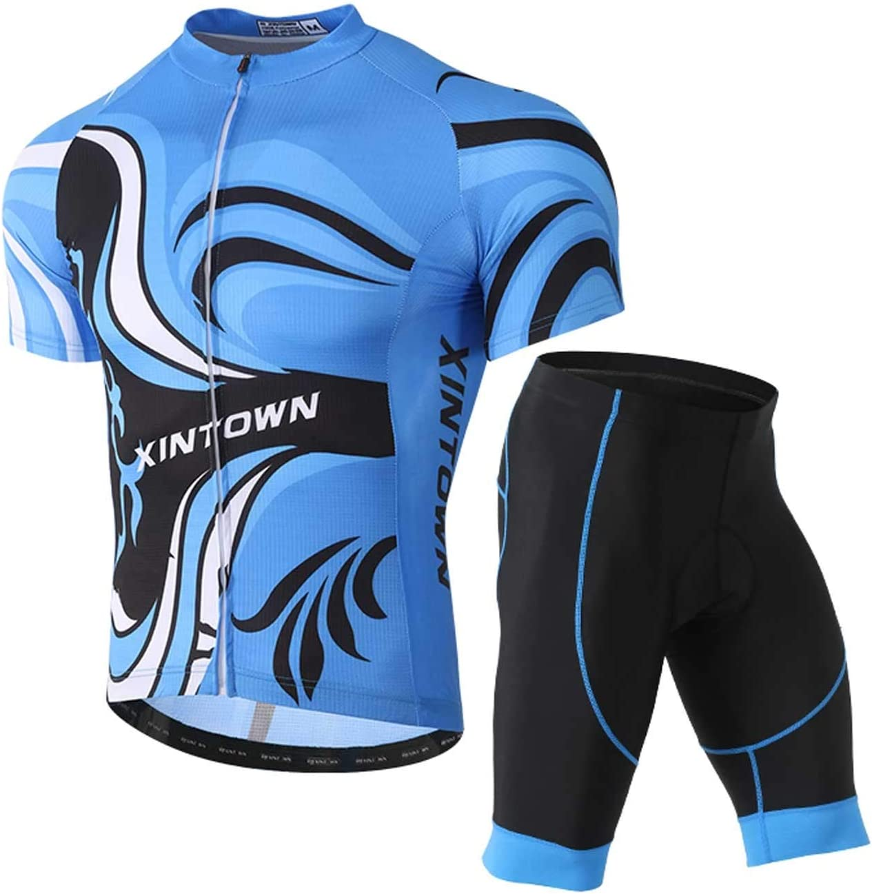 Men/'s Cycling Bike Sports Uniforms Short Sleeve Jersey Bibs Shorts Kits Suits