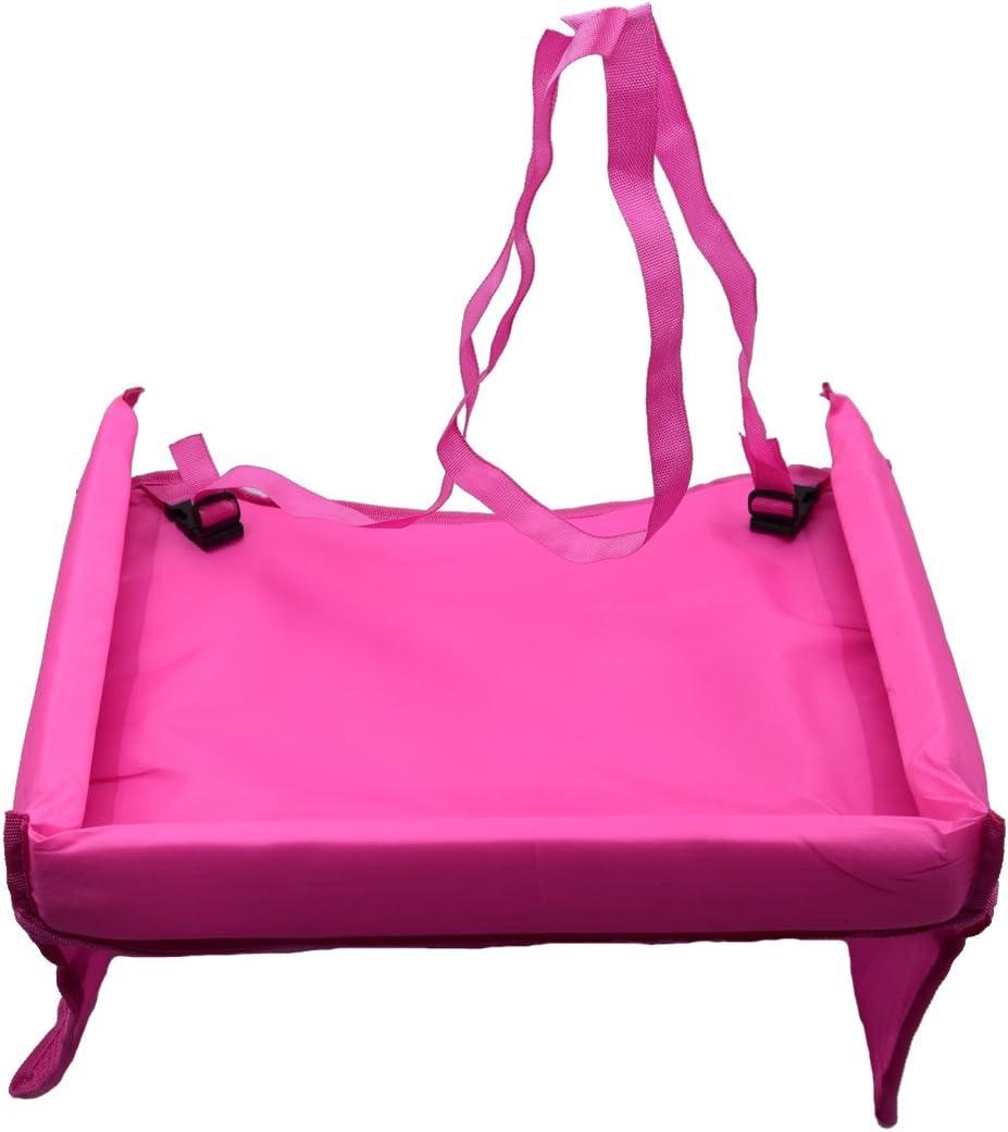 Bandeja de coche con mesa para ni/ños de Taramall rosa rosa impermeable para que jueguen los ni/ños mesa ajustable al cintur/ón de seguridad del asiento del coche con tablero de dibujo de viaje para poner comida