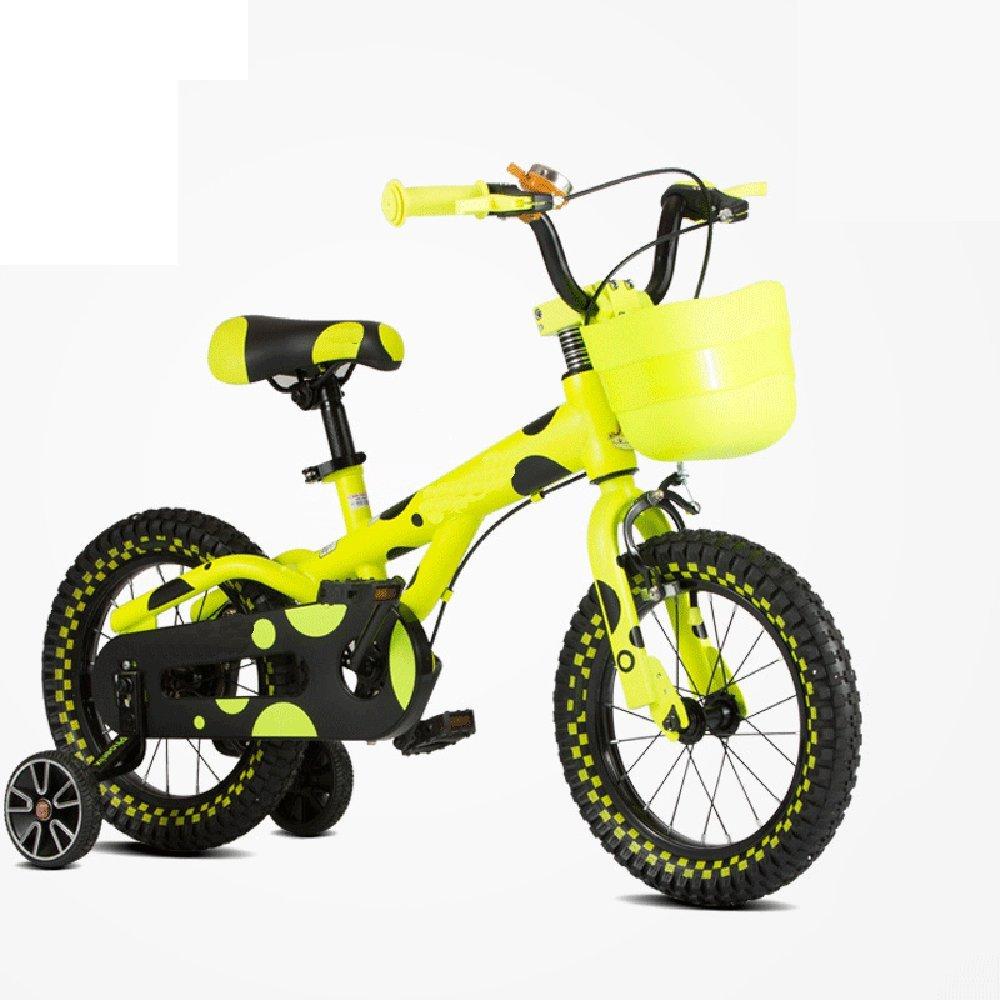 YANGFEI 子ども用自転車 子供用自転車12/14/16インチ男性と女性のモデルベビーベビーカーの自転車の男の子の自転車 212歳 B07DWVHZ9L 14 inches|イエロー いえろ゜ イエロー いえろ゜ 14 inches
