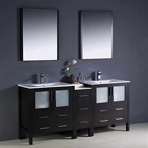 Fresca Bath FVN62-301230ES-UNS Torino 72″ Double Sink Vanity