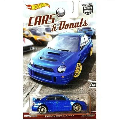 Hot Wheels CAR Culture, Cars & Donuts Series, Blue Subaru Impreza WRX 5/5: Toys & Games