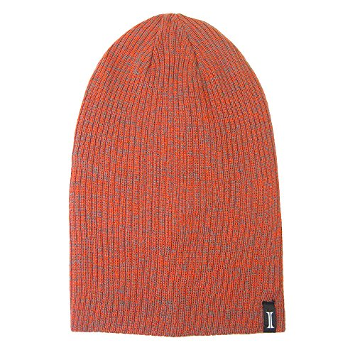 Reversible Jacob Ash Cap (Igloos Boys 4-in-1 Reversible Slouch Beanie, Tangerine/Monument, One Size (8-14))